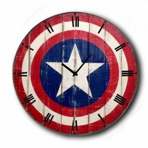 Star - Ρολόι τοίχου Ξύλινο Χειροποίητο Στρογγυλό 48cm F4811