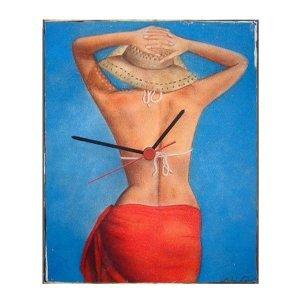 Summer time - Ρετρό ρολόι τοίχου χειροποίητο