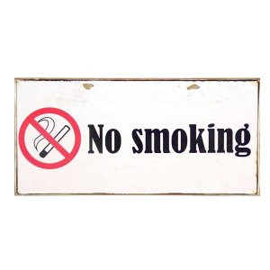 Ταμπελάκι χειροποίητο No Smoking