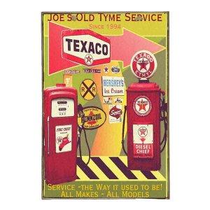 Texaco Vintage Ξύλινο Πινακάκι 20 x 25 cm