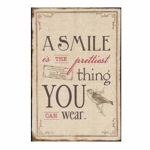 The smile- Vintage Ξυλινο Πινακάκι 21 x 30 cm 1751