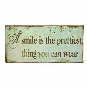 Το πολυτιμότερο πράγμα είναι το χαμόγελο σου - Πινακάκι Χειροποίητο