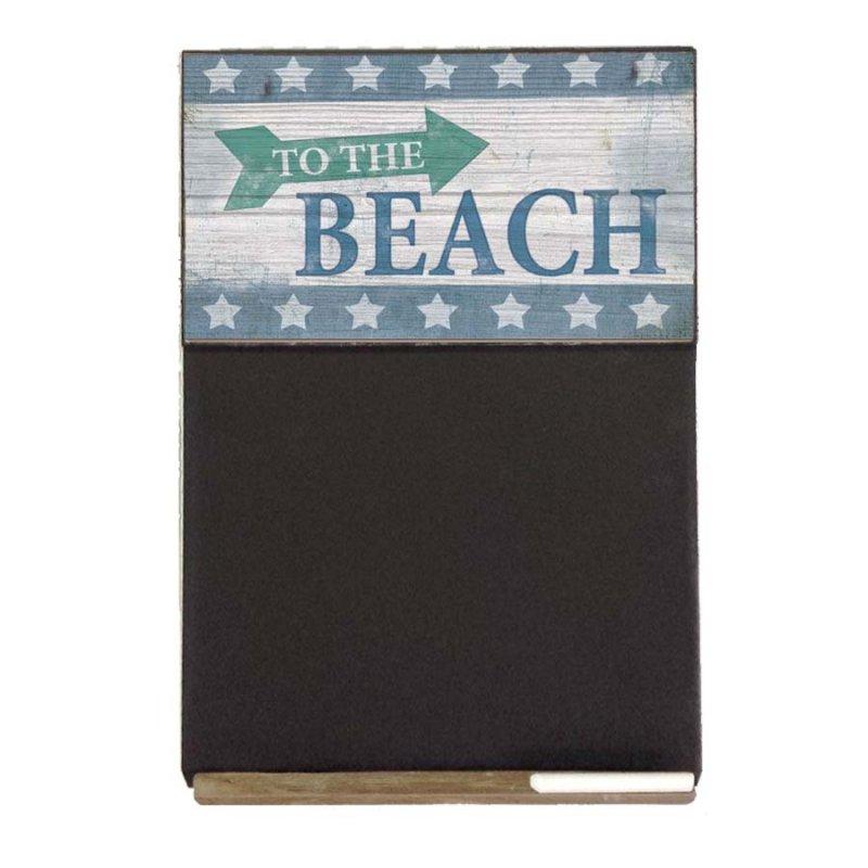 To the Beach  Ξύλινος Χειροποίητος Μαυροπίνακας 38 x 26 cm