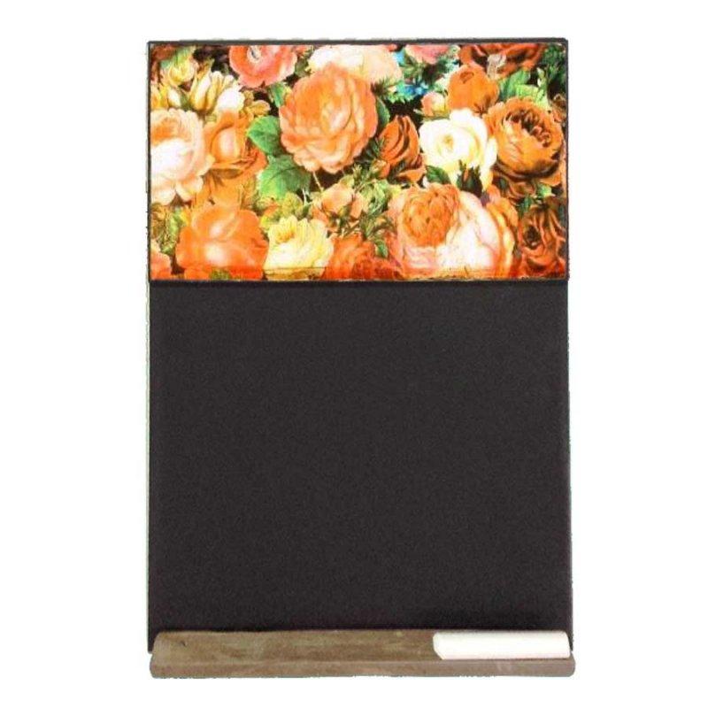 Τριαντάφυλλα - Χειροποίητος Μαυροπίνακας 26 X 38