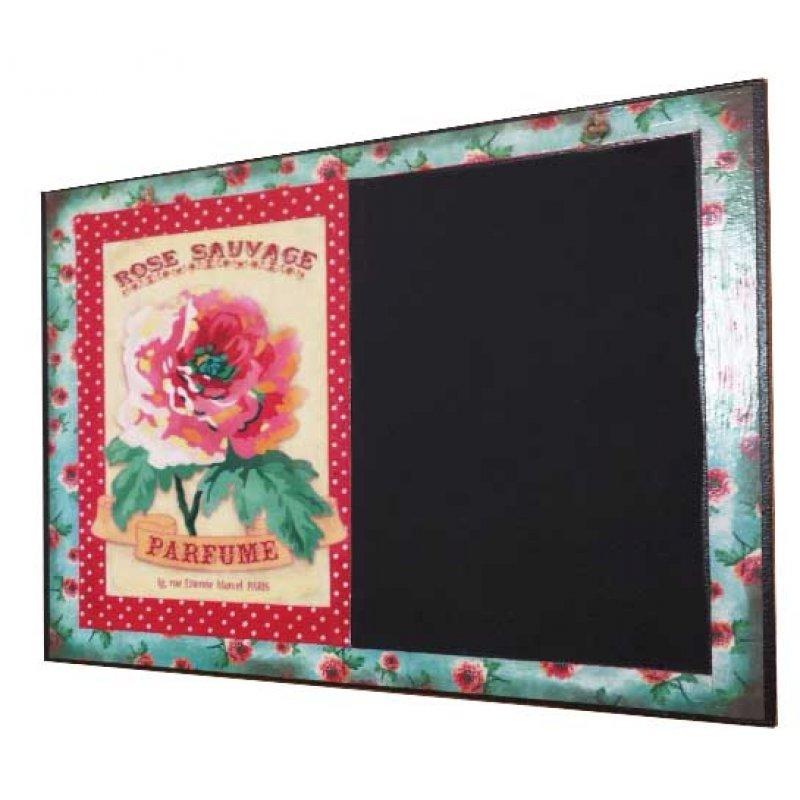 Τριαντάφυλλο Χειροποίητος Μαυροπίνακας 20X30 εκατοστά