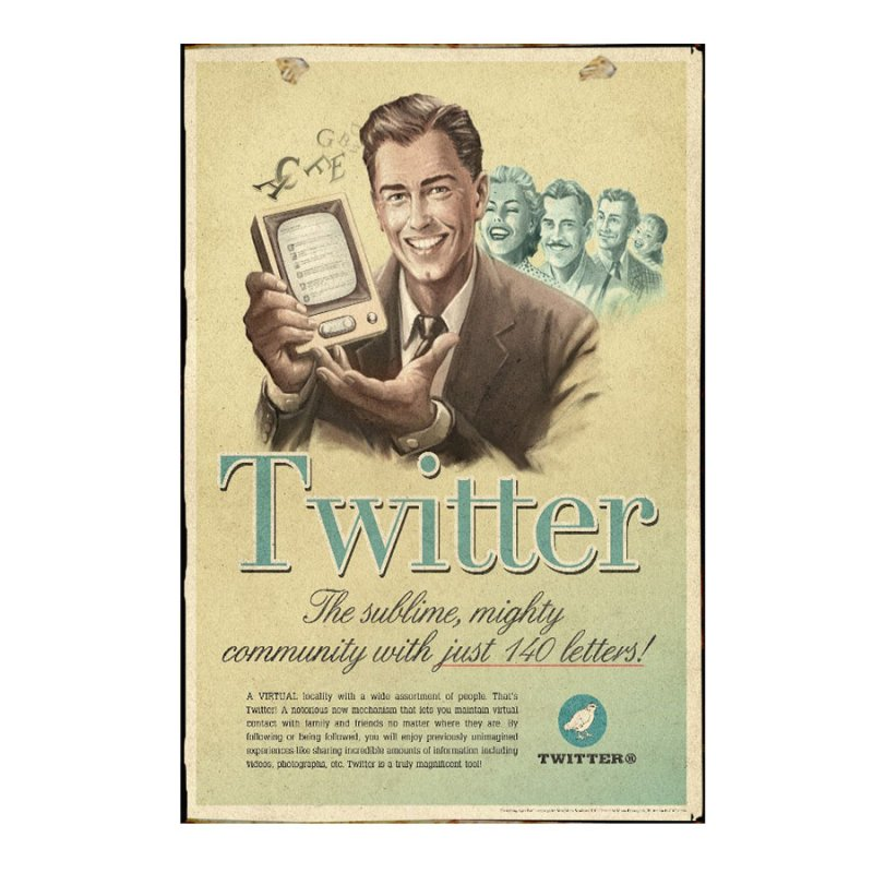 Twitter Πίνακας Χειροποίητος  21cm X 30cm  1113