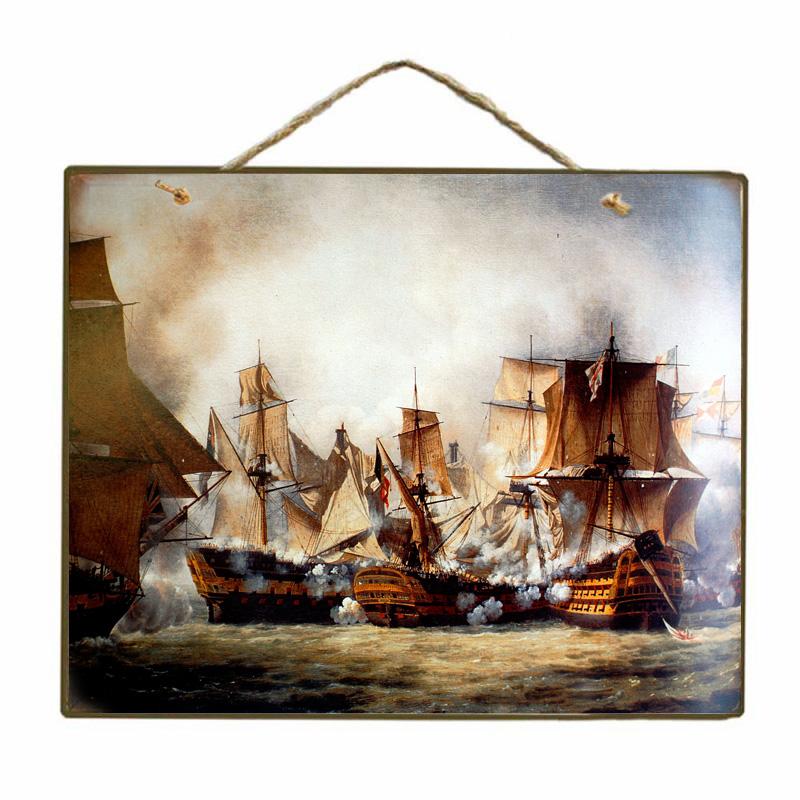 Vintage Ξύλινο Πινακάκι Ιστιοφόρο 20 x 25 cm 1774