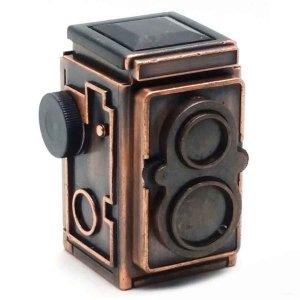 Vintage Μεταλλική Μινιατούρα Φωτογραφική Μηχανή 6cm