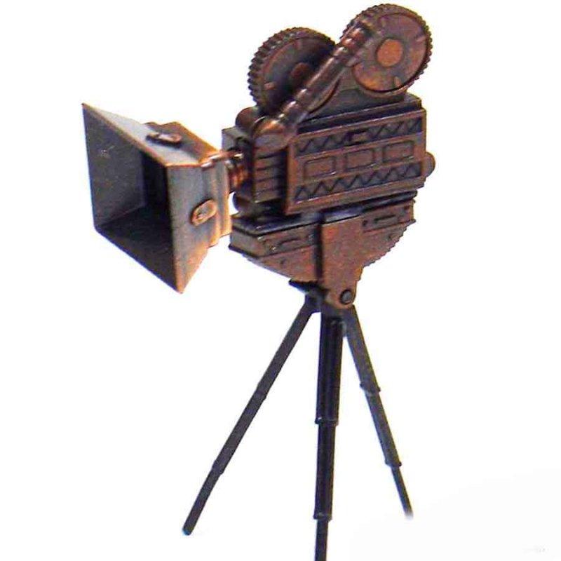Vintage Μεταλλική Μινιατούρα Φωτογραφική Μηχανή 9cm