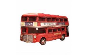 Vintage Μεταλλικό Κάδρο London Bus 32x19cm