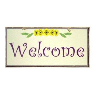 Vintage Πινακάκι  Χειροποίητο  Welcome