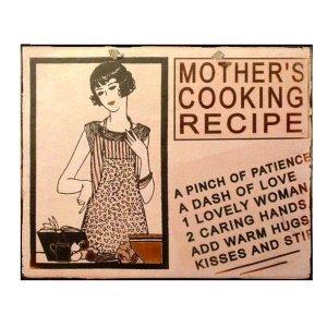 Vintage πίνακας xειροποίητος 'mother's recipe'