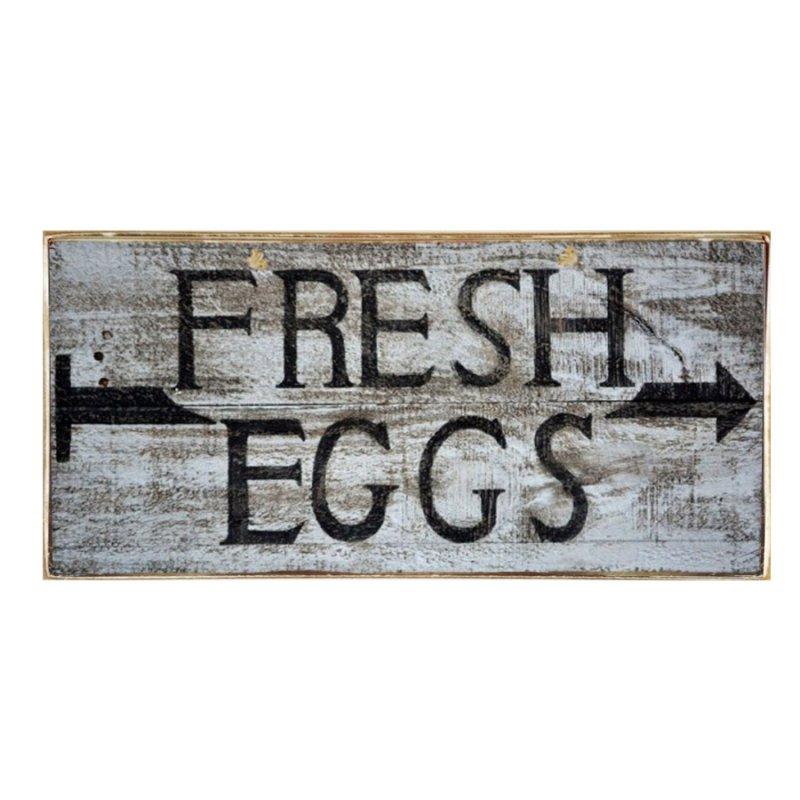 Vintage Πίνακας Χειροποίητος Fresh Eggs 13x26 cm