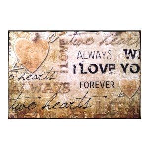 Vintage Πίνακας Χειροποίητος  I love you