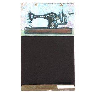 Vintage ραπτομηχανή - Χειροποίητος Μαυροπίνακας 26 X 38