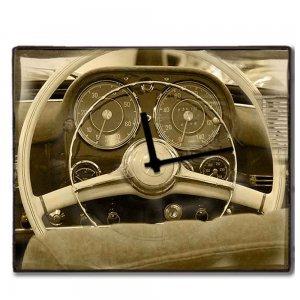 Vintage Wheel -  Ρολόι τοίχου χειροποίητο ξύλινο