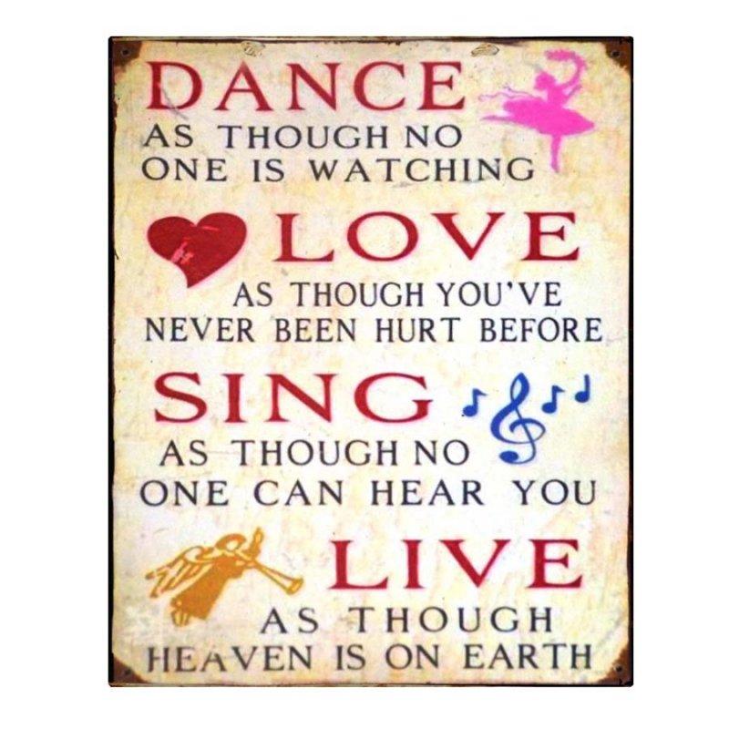 Vintage Χειροποίητο Dance Love Sign Live