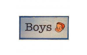 Vintage Χειροποίητο Πινακάκι Boys