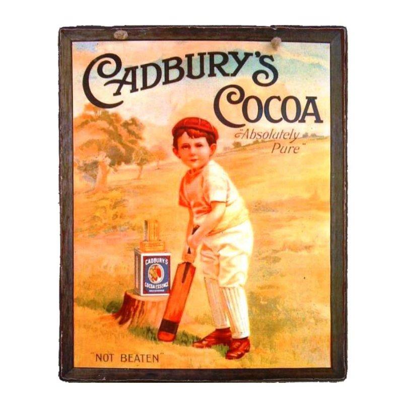 Vintage Χειροποιήτο πινακάκι Cadbury's Cocoa