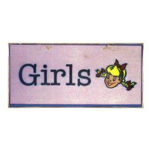 Vintage Χειροποίητο Πινακάκι Girls