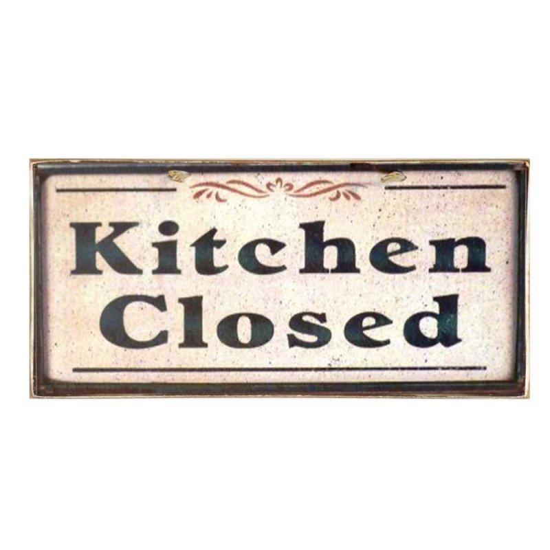 Vintage Χειροποίητο Πινακάκι Kitchen Closed