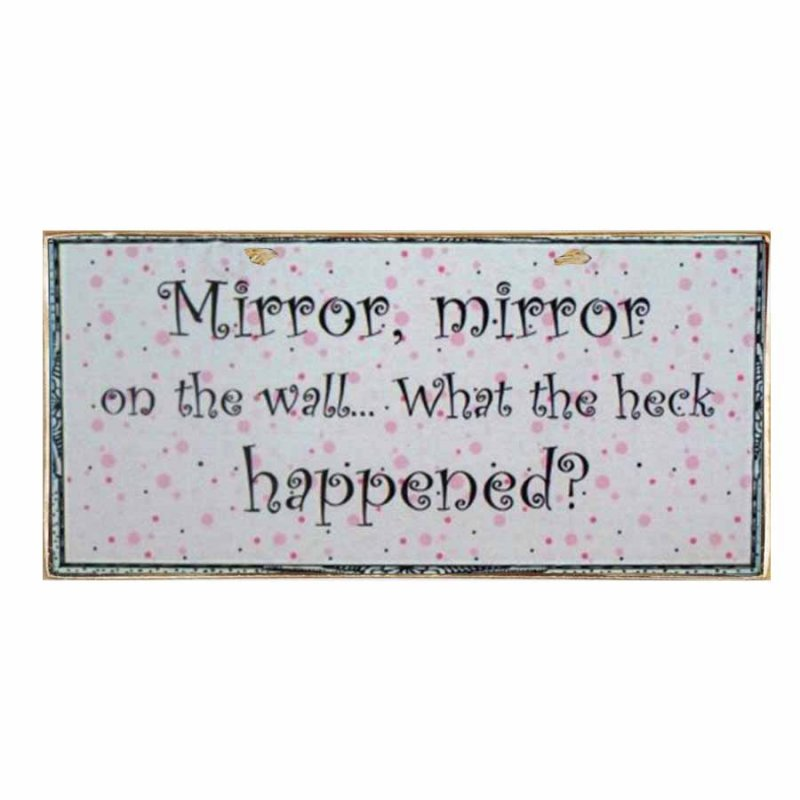 Vintage Χειροποίητο Πινακάκι Mirror Mirror
