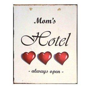 Vintage Χειροποίητο Πινακάκι Mom's Hotel