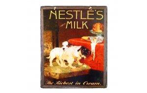 Vintage Χειροποιήτο πινακάκι Nestles Milk