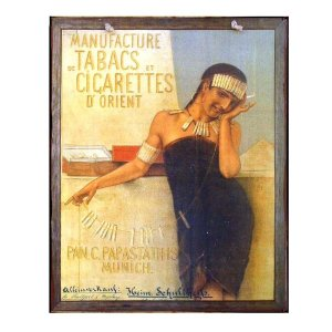 Vintage Χειροποιήτο πινακάκι Tabacs Cigarettes