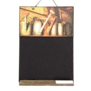 Vintage Χειροποίητος Μαυροπίνακας Ράφι