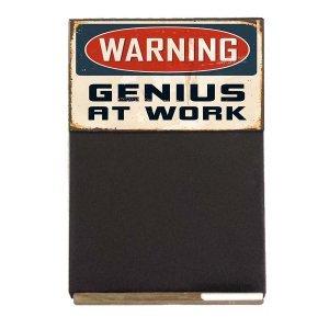 Warning  Ξύλινος Χειροποίητος Μαυροπίνακας 38 x 26 cm