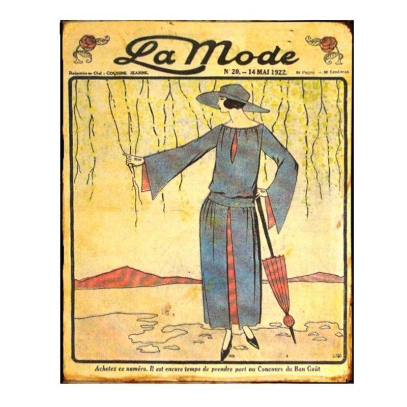 Χειροποίητο Διακοσμητικό Πινακάκι La Moda