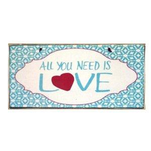 Χειροποίητο πινακάκι All you need is love