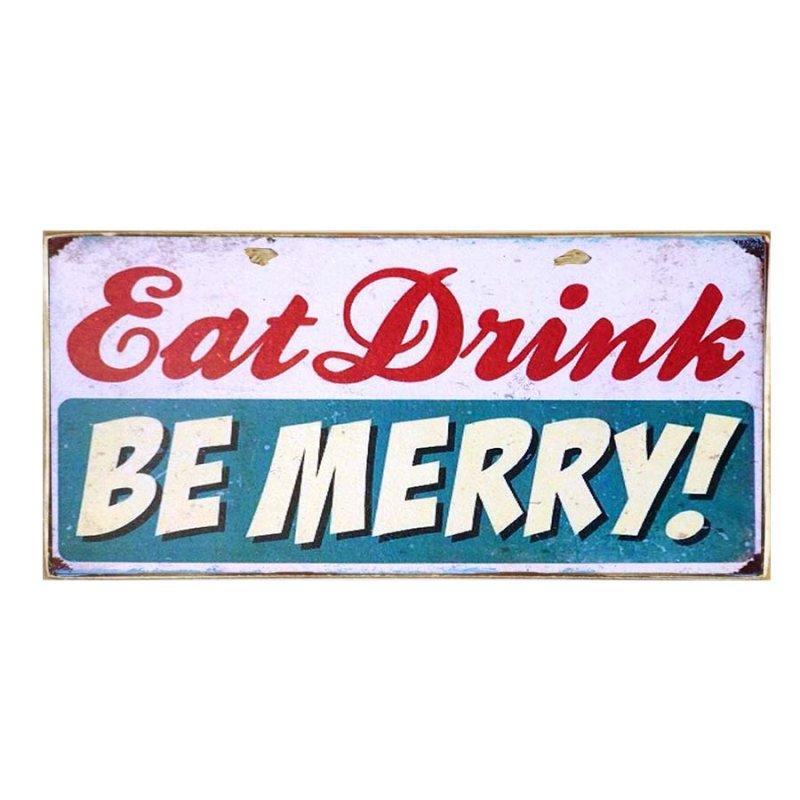Χειροποίητο Πινακάκι Eat Drink - Be Merry