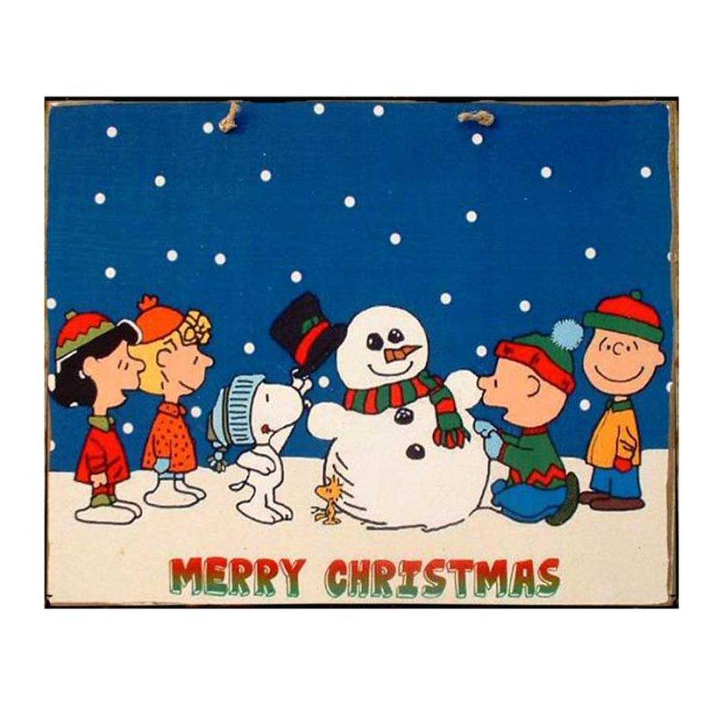 Xειροποίητο Χριστουγεννιάτικο ταμπελάκι  Cartoon με Χιονάνθρωπο