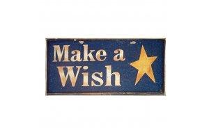 Xειροποίητο Χριστουγεννιάτικο ταμπελάκι  Make a Wish