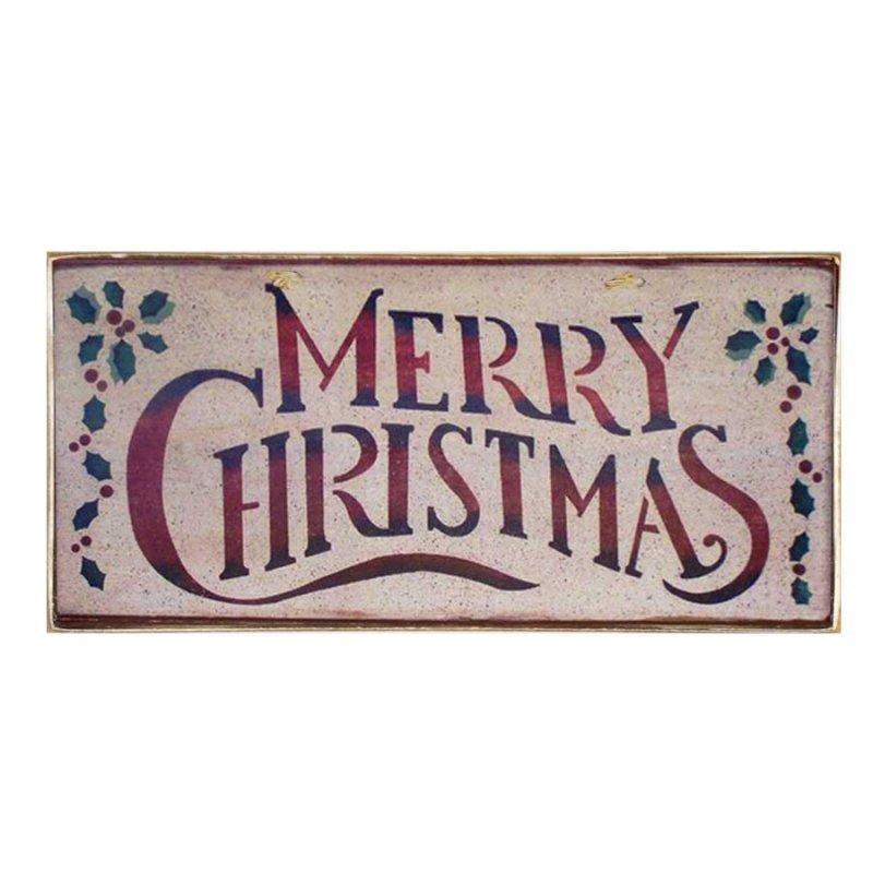 Xειροποίητο Χριστουγεννιάτικο ταμπελάκι Merry Christmas