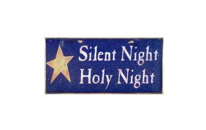 Xειροποίητο Χριστουγεννιάτικο ταμπελάκι Silent Night Holy Night