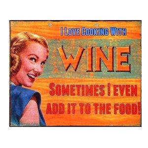 Xιουμοριστικό χειροποίητο πινακάκι 'Wine'