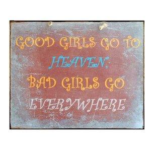 Χιουμοριστικός πίνακας Καλά & Κακά Κορίτσια