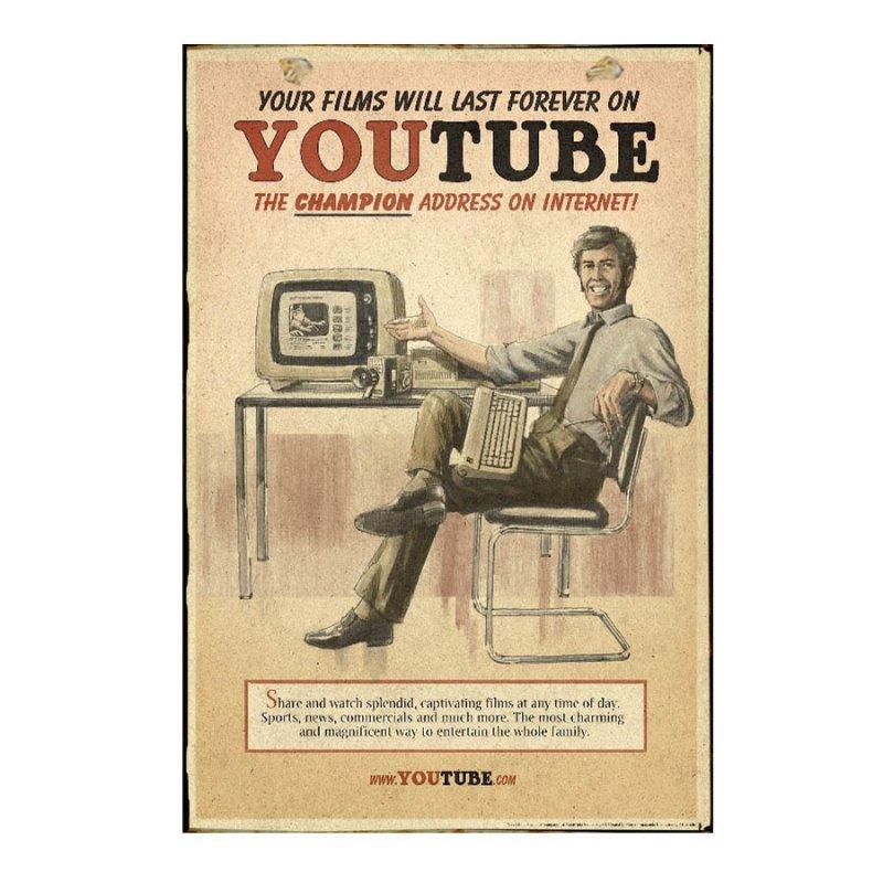 YouTube Πίνακας Χειροποίητος  21cm X 30cm  1114