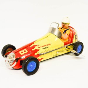 Kουρδιστό παιχνίδι vintage rally κίτρινο