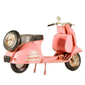 Vintage μεταλλικό διακοσμητικό - Vespa Ροζ 30 εκατοστά