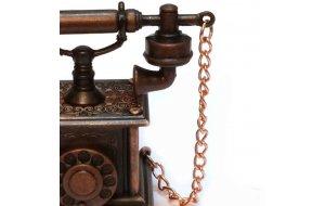 Vintage Μεταλλική Μινιατούρα Τηλεφωνο 9cm