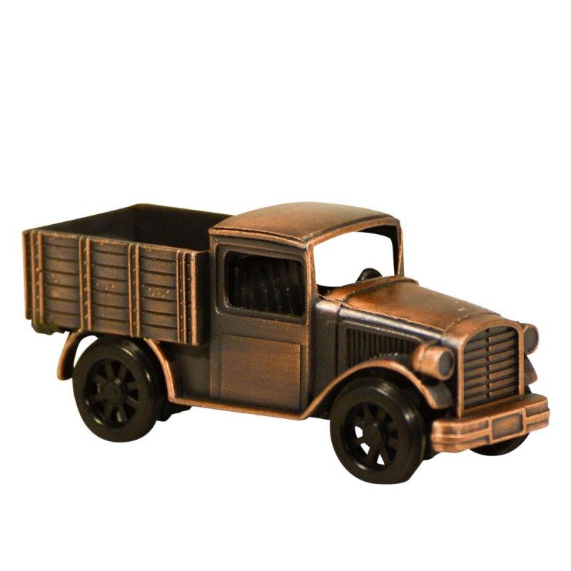 Ξύστρα μινιατούρα φορτηγάκι σε μπρονζέ χρώμα 8cm