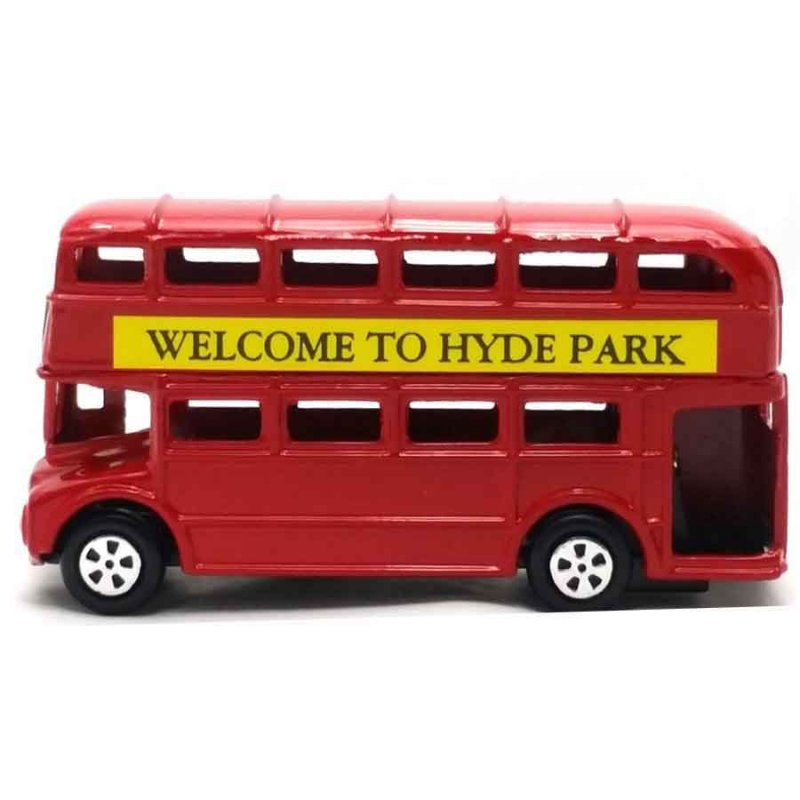 London Bus -  Μεταλλική μινιατούρα και ξύστρα 9cm