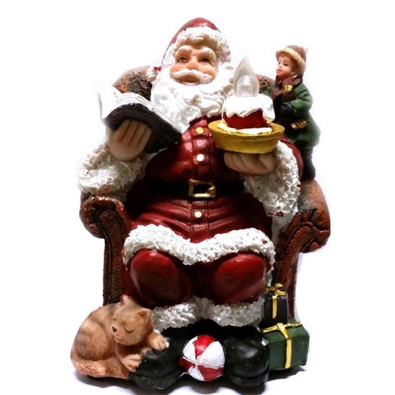 SP Άγιος Βασίλης Με Φώς 12cm