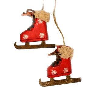SP Χριστουγεννιάτικα Στολίδια Παγοπέδιλα Κόκ 8x2x8cm
