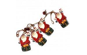 SP Χριστουγεννιάτικη Γιρλάντα Ξύλινη 1m Santa