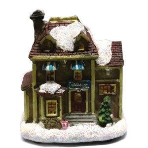 SP Χριστουγεννιάτικο διακοσμητικό Σπιτάκι Με Φώς 9cm